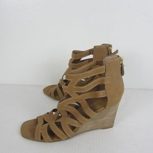 Franco Sarto Hazy Open Toe Wedge Sandals 8.5